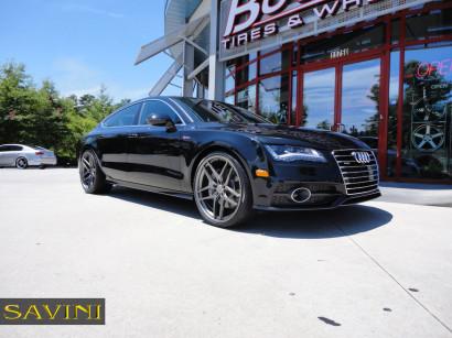 Black-Audi-A7-Савини-Wheels-Black-ди-Forza-BM7-титано-1.jpg