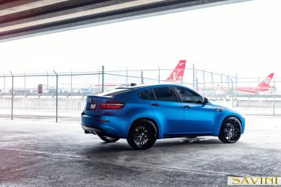 マット - ブルー -  BMW  -  X6  -  Savini  - 鍛造ホイール -  SV25  -  C  - 凹面 - マット - ブラック -  1.jpg