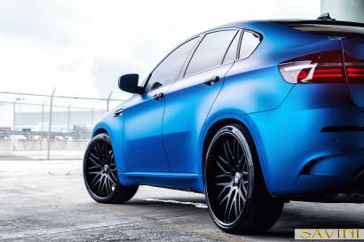 マット - ブルー -  BMW  -  X6  -  Savini  - 鍛造ホイール -  SV25  -  C  - 凹面 - マット - ブラック -  2.jpg