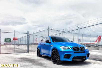 マット - ブルー -  BMW  -  X6  -  Savini  - 鍛造ホイール -  SV25  -  C  - 凹面 - マット - ブラック -  4.jpg
