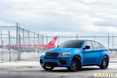 マット - ブルー -  BMW  -  X6  -  Savini  - 鍛造ホイール -  SV25  -  C  - 凹面 - マット - ブラック -  5.jpg