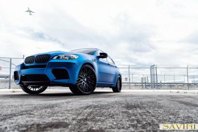 マット - ブルー -  BMW  -  X6  -  Savini  - 鍛造ホイール -  SV25  -  C  - 凹面 - マット - ブラック -  6.jpg