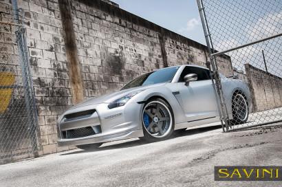 Matte-Silber-Nissan-GTR-Savini-Geschmiedete Räder-SV44-C-Konkav-Carbon-Faser-3.jpg