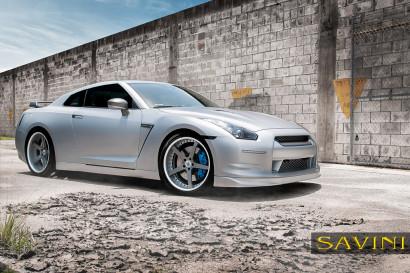 Matte-Silber-Nissan-GTR-Savini-Geschmiedete Räder-SV44-C-Konkav-Carbon-Faser-4.jpg