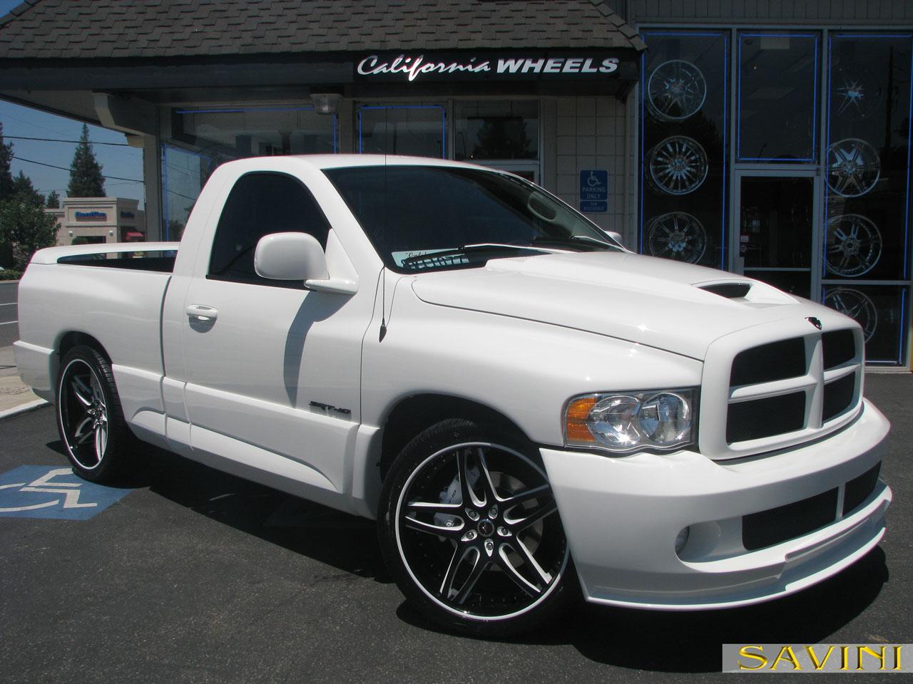 White Dodge Ram Srt10 Savini Forged Wheels Sv2