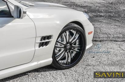 Weiß-Mercedes-Benz-SL550-Savini-Geschmiedete Räder-SV35-S-Schwarz-Weiß-2.jpg
