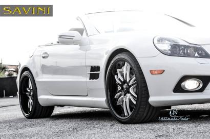 Бело-Mercedes-Benz-SL550-Савини-кованые-колеса-SV35-S-черный-белый-4.jpg