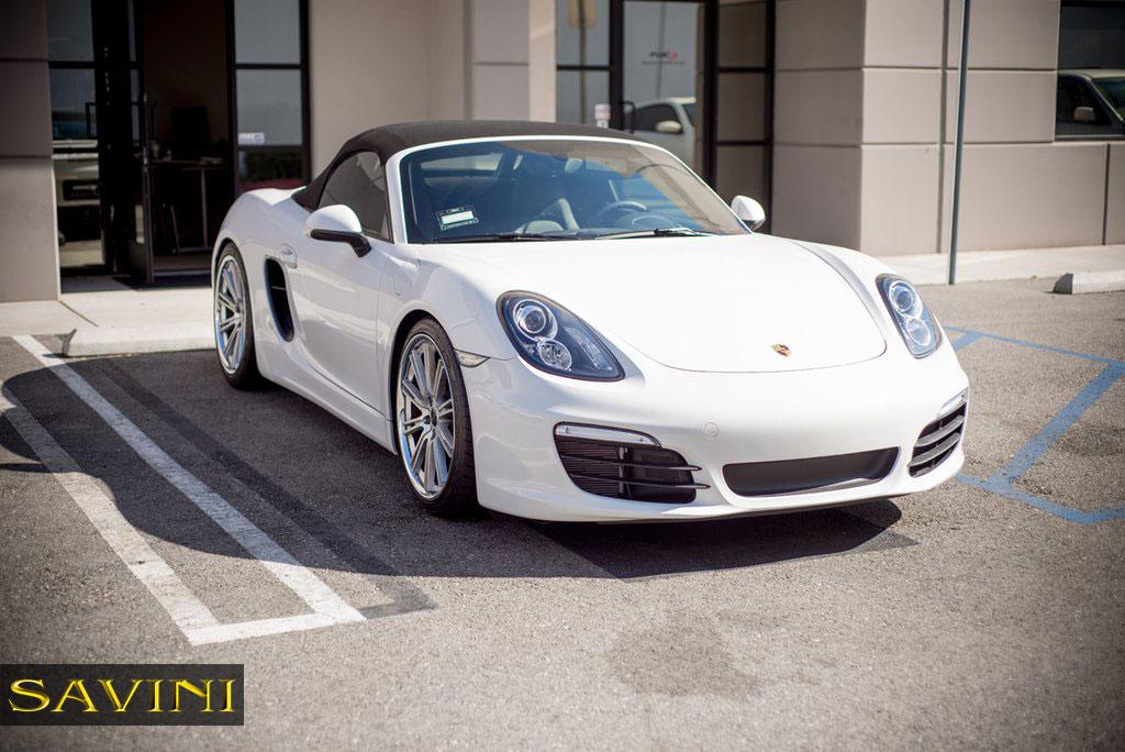 Porsche Boxster 2014 White Boxster - Savini Wheel...
