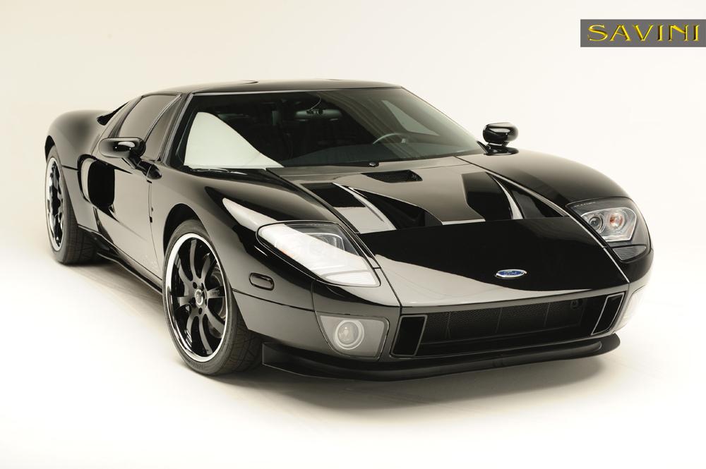 Black Ford Gt Savini Forged Wheels Sv S