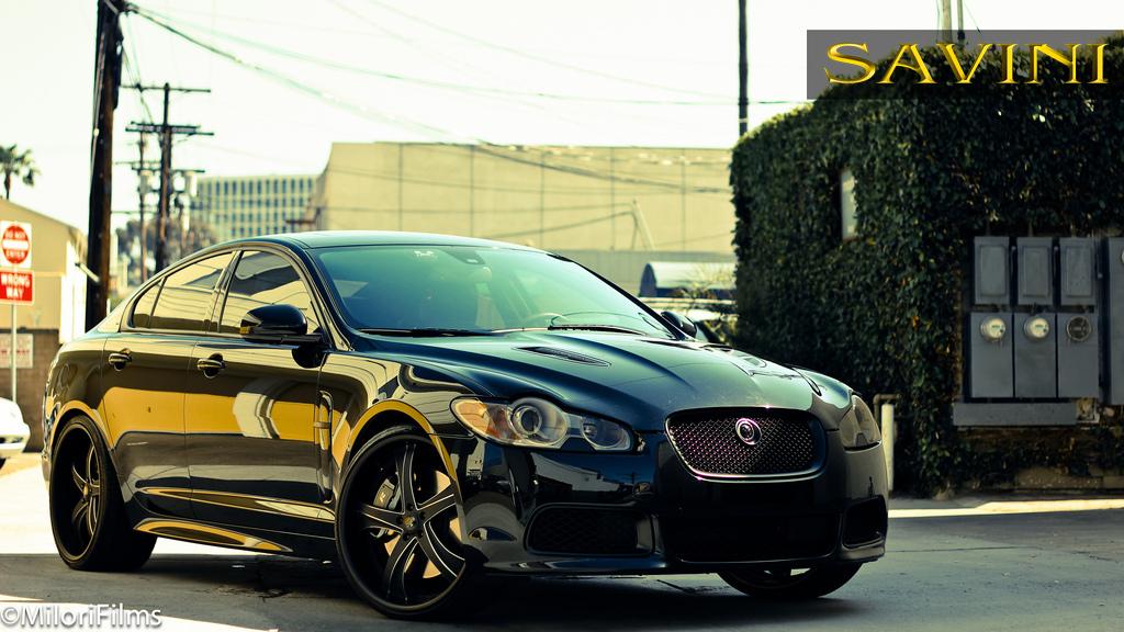 Black Jaguar Xf Savini Forged Wheels Sv29 S