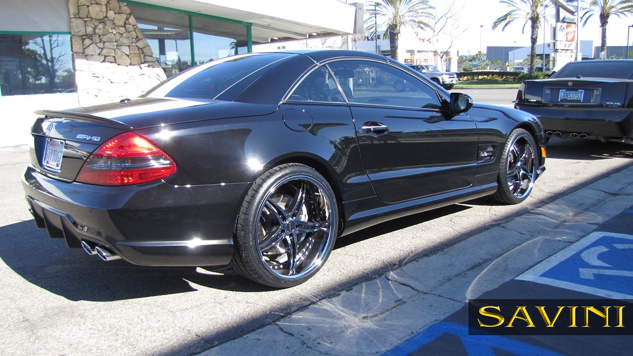 Sl class savini wheels for Mercedes benz chrome