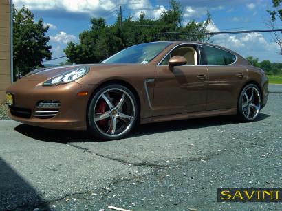 коричнево-порш-Panamera-Савини-кованые-колеса-sv29-с-щеткой-коричнево-3.jpg