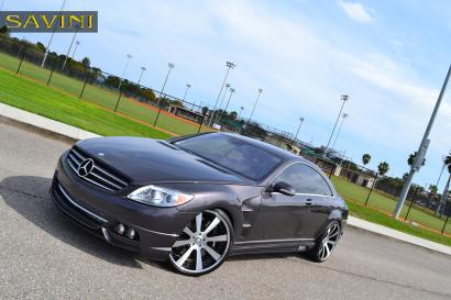 серый-металлик Mercedes-Benz-cl550-Савини-кованые-колеса-sv28-с-вогнутые щеткой-черно-1.jpg