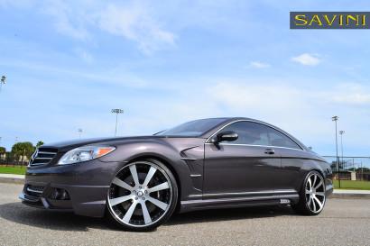 серый-металлик Mercedes-Benz-cl550-Савини-кованые-колеса-sv28-с-вогнутые щеткой-черно-3.jpg