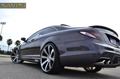 серый-металлик Mercedes-Benz-cl550-Савини-кованые-колеса-sv28-с-вогнутые щеткой-черно-4.jpg