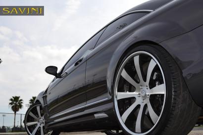 серый-металлик Mercedes-Benz-cl550-Савини-кованые-колеса-sv28-с-вогнутые щеткой-черно-5.jpg