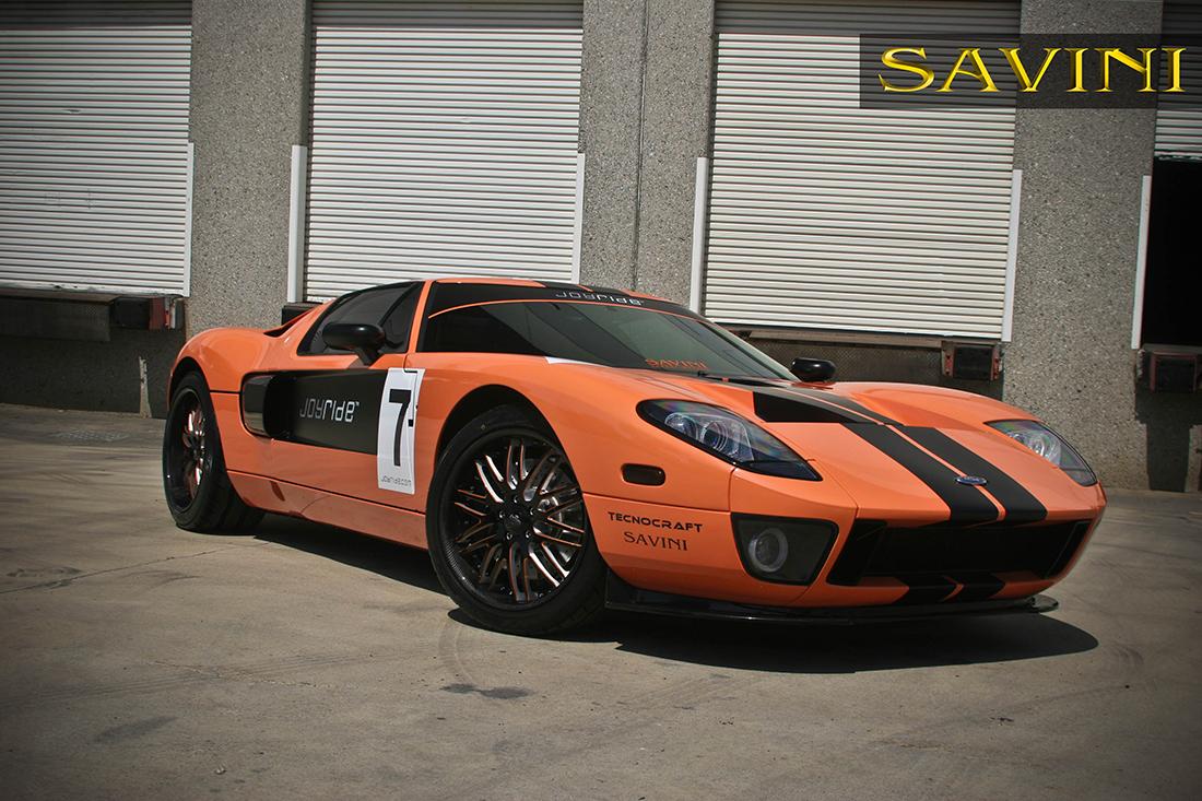 Orange Ford Gt Savini Forged Wheels Sv S