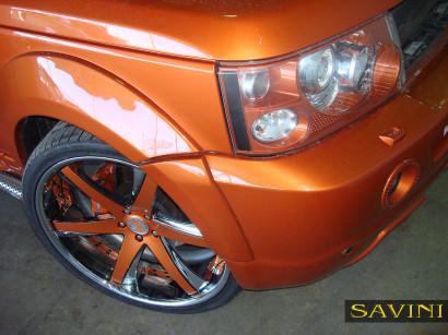 オレンジレンジローバースポーツ - サヴィニ - 鍛造ホイール -  sv30-c-凹オレンジ - クロム-1.jpg