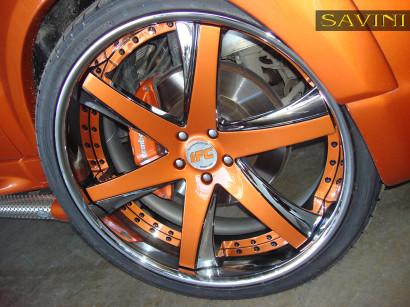 オレンジレンジローバースポーツ - サヴィニ - 鍛造ホイール -  sv30-c-凹オレンジ - クロム-2.jpg