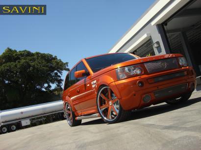 オレンジレンジローバースポーツ - サヴィニ - 鍛造ホイール -  sv30-c-凹オレンジ - クロム-5.jpg