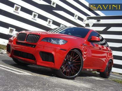 Rot-bmw-x6m-savini-geschmiedete Räder-sv25-c-konkav-schwarz-rot-2.jpg