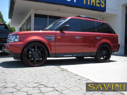 Rot-range-rover-sport-savini-geschmiedete Räder-sv28-s-schwarz-rot-1.jpg