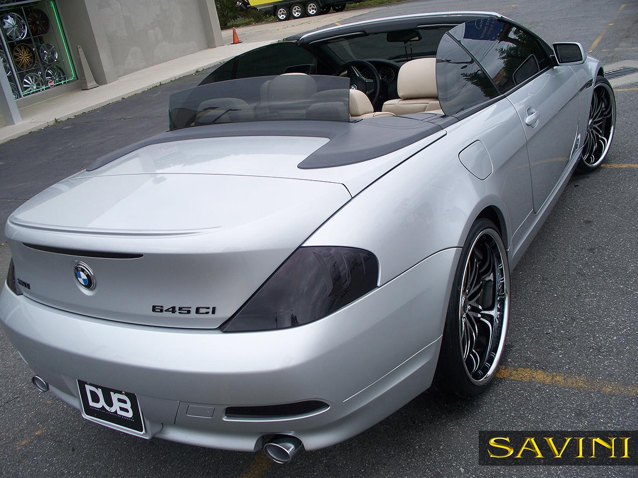 Series Savini Wheels - 645i bmw