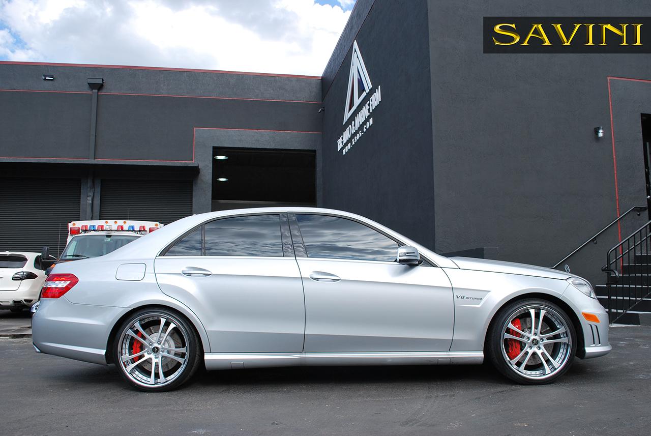 E class savini wheels for Mercedes benz chrome