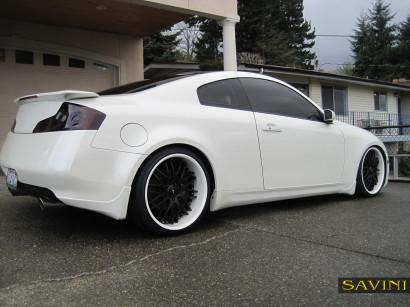 Weiß-infiniti-g35-savini-geschmiedete Räder-sv25-schwarz-weiß-2.jpg