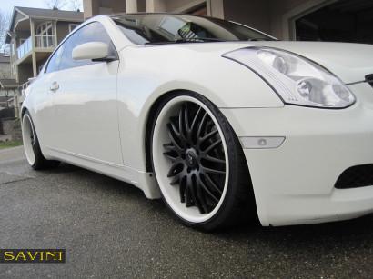 Weiß-infiniti-g35-savini-geschmiedete Räder-sv25-schwarz-weiß-4.jpg