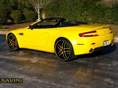 黄色 - アストン - マーティン - ヴァンテージ - サヴィニ - ホイール - ブラック - ディ - フォルツァ -  bs2  - ブラック - イエロー -  3.jpg
