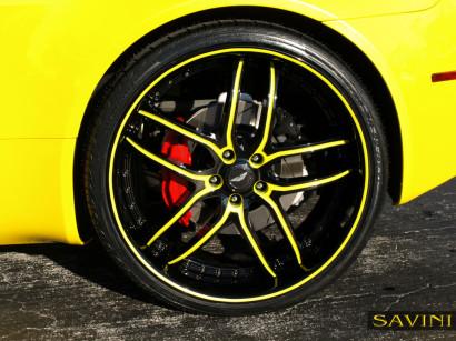 黄色 - アストン - マーティン - ヴァンテージ - サヴィニ - ホイール - ブラック - ディ - フォルツァ -  bs2  - ブラック - イエロー -  4.jpg