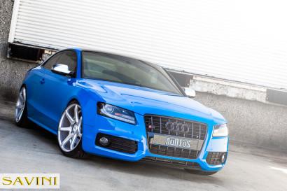 ブルー - アウディ -  S5  - サヴィーニ - ホイール - ブラック - ディ - フォーザ -  BM10  - ブラシ - シルバー -  1.jpg