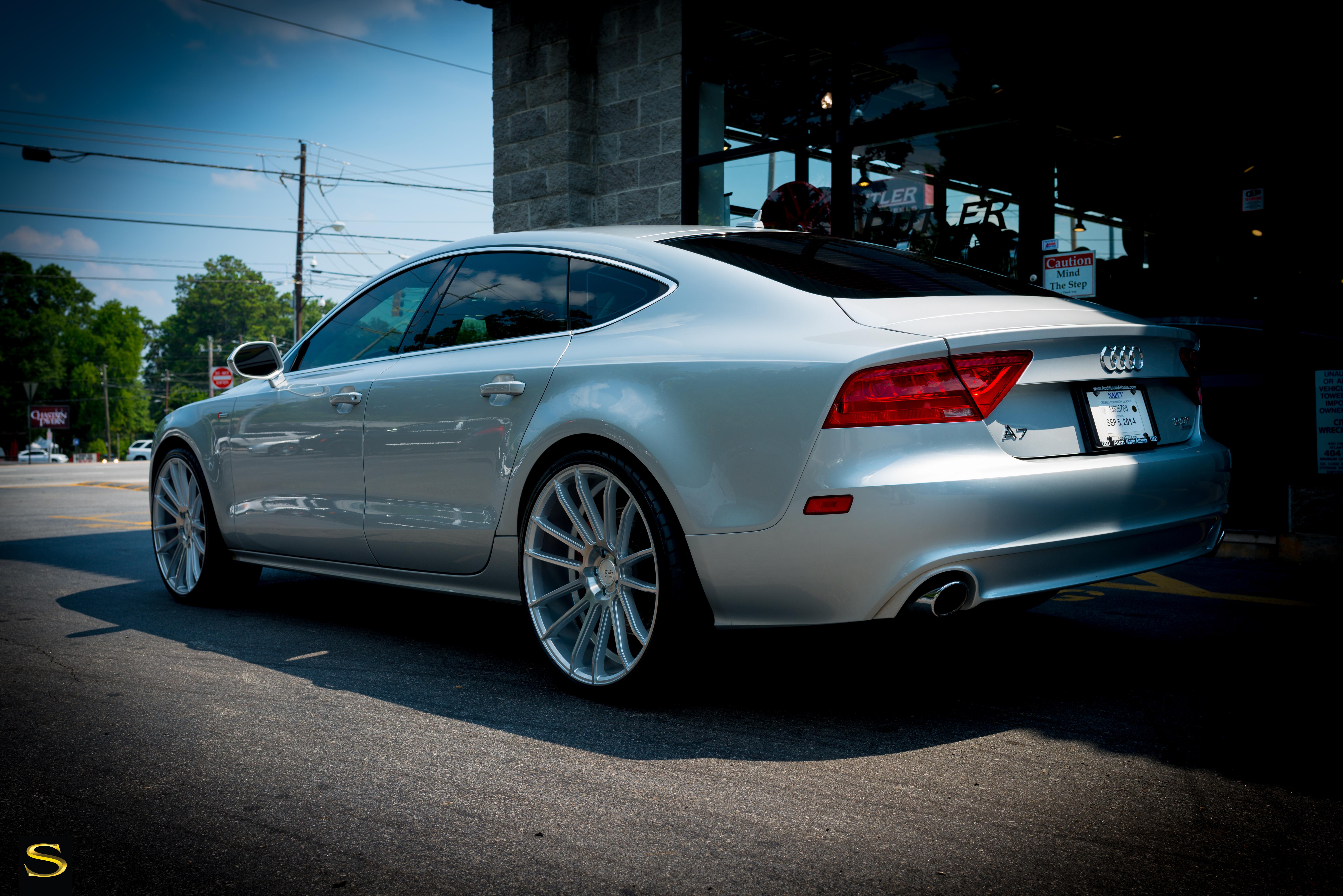 Audi A7 White With Black Rims