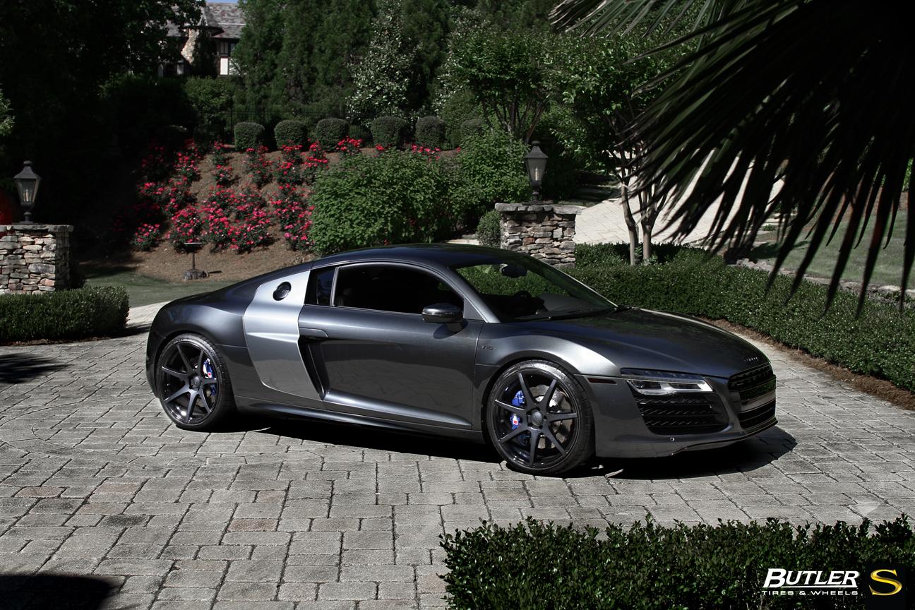 Metallic Gray Audi R8 Savini Black Di Forza Bm10 Matte Black With