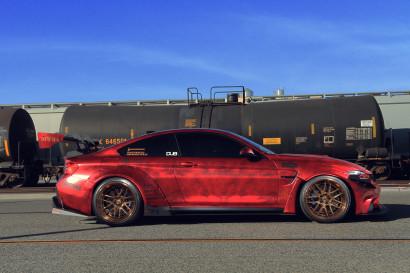 Савини-кованые sv64svl-медно-внушительно наматывается мраморным красно-BMW-m4-4.jpg