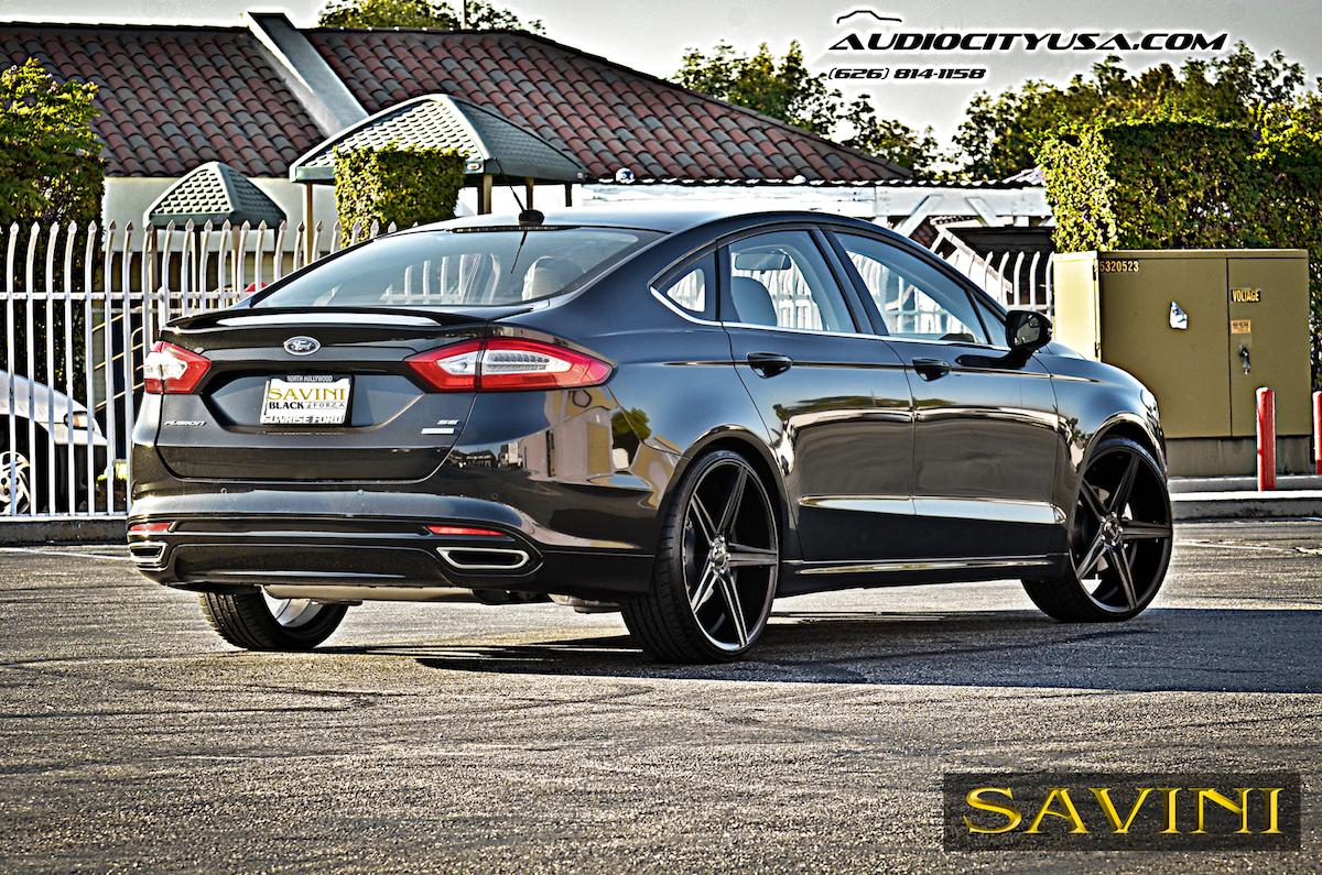 Black Ford Fusion Savini Wheels Di Forza