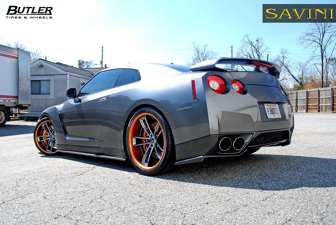 gray-metallic-nissan-gtr-savini-forged-wheels-sv51-c-concave-gray-metallic-orange (3)