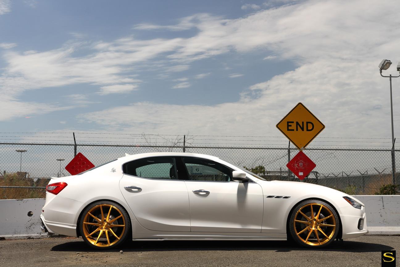Savini Black di Forza BM12 brushed gold Maserati Ghibli (3)