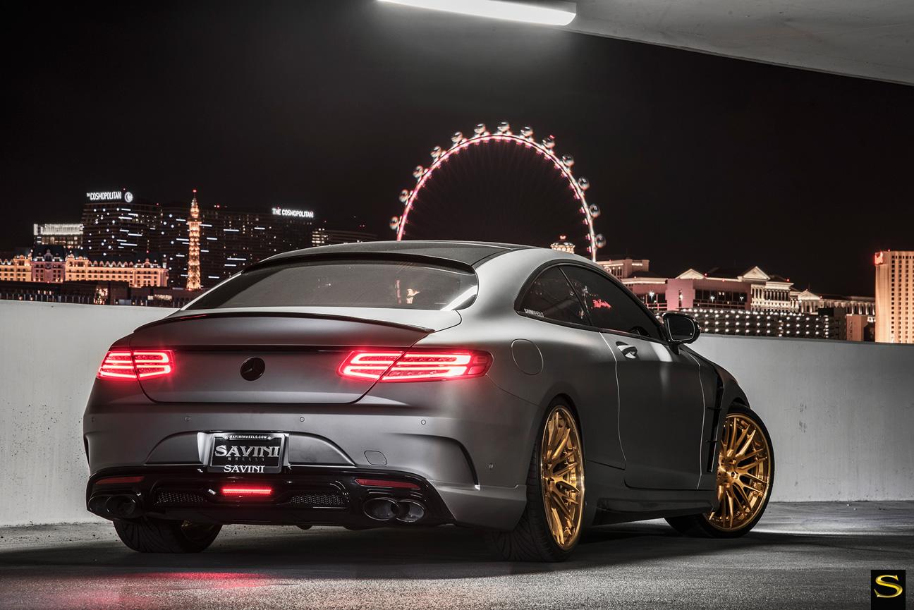 Savini-Black-di-Forza-Forged-BM13-L-Brushed-Gold-Mercedes-S550-Coupe-(9)